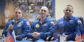 Tripulación de Estados Unidos y Rusia parte a la Estación Espacial Internacional