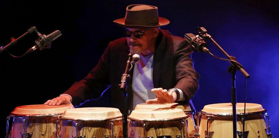 Jerry González durante su actuación en el Baluarte de Pamplona.   (EFE) (horizontal-x3)