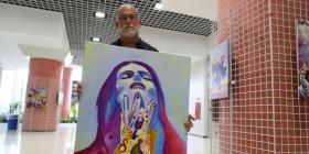 Kiko Delgado encuentra en la pintura un desahogo
