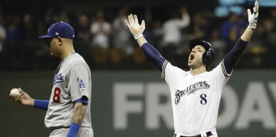 Los Cerveceros jugarán nuevamente en su casa en el partido decisivo ante los Dodgers. (AP) (horizontal-x3)