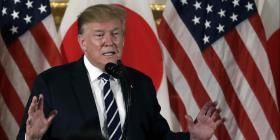 Donald Trump llega a Japón para una visita de Estado