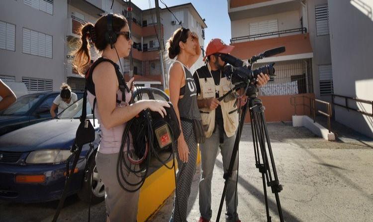 Karen Rossi durante la grabación del filme. (Suministrada) (horizontal-x3)