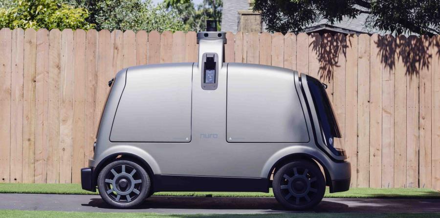Imagen sin fecha proporcionada por la empresa The Kroger Co. de un vehículo autónomo llamado el R1. (Andrew Brown/The Kroger Co. vía AP) (horizontal-x3)