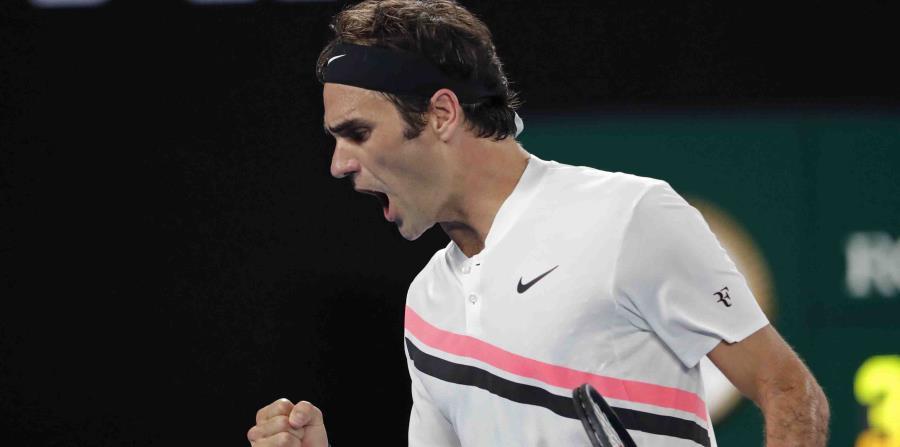 El tenista suizo Roger Federer celebra su victoria. (horizontal-x3)