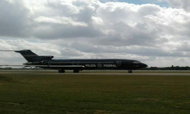 A bordo del avión de la Policía Federal de México estaban los ciudadanos cubanos deportados. (Suministrada) (semisquare-x3)