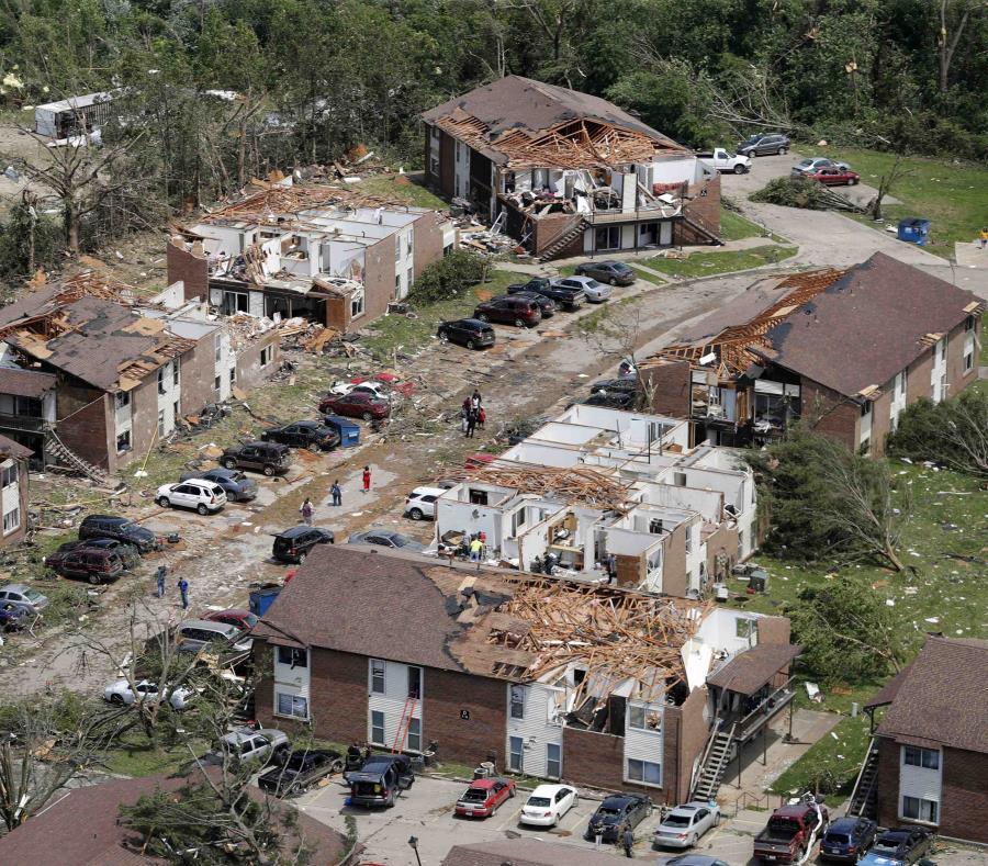 La foto de archivo del 23 de mayo muestra los da os causados por un tornado en Jefferson City, Missouri, EE.UU (semisquare-x3)