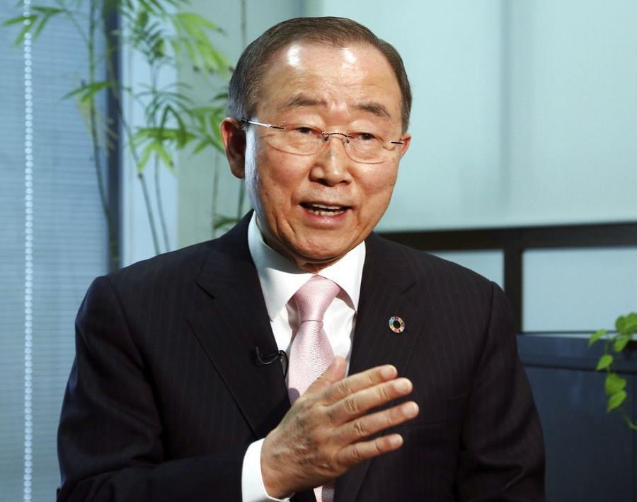 El exsecretario general de la ONU Ban Ki-moon (semisquare-x3)