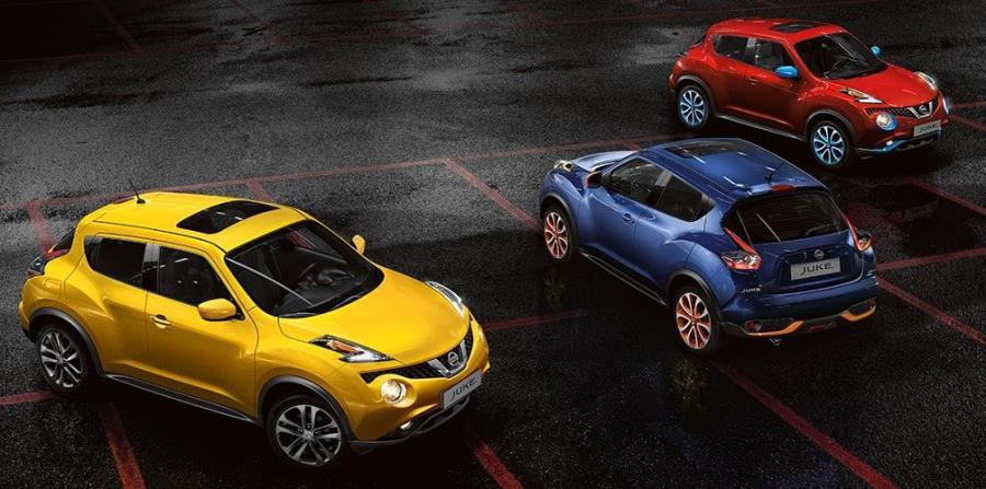 Además de llamativos colores exteriores, Nissan JUKE ofrece variadas opciones de personalización a través de Nissan Design Studio. (horizontal-x3)