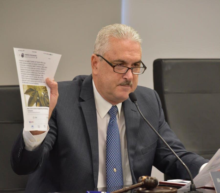 Thomas Rivera Shchatz, presidente del Senado, criticó a quienes buscan lucrarse del cannabis medicinal sin seguir los debidos procesos de ley. (Suministrada) (semisquare-x3)