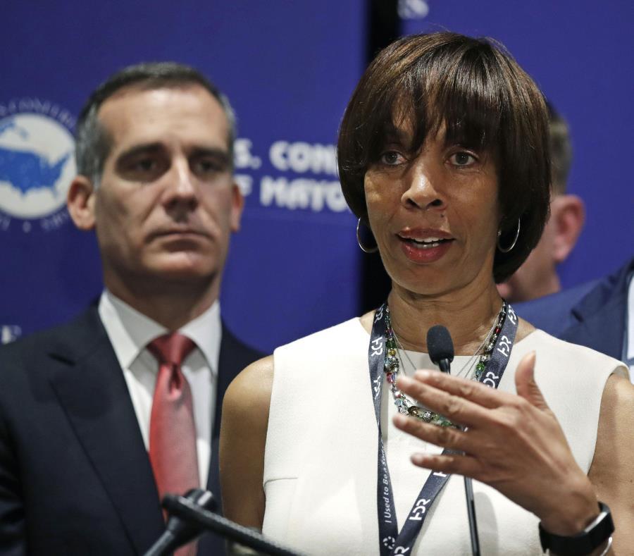 Catherine Pugh, alcaldesa de Baltimore. (AP) (semisquare-x3)