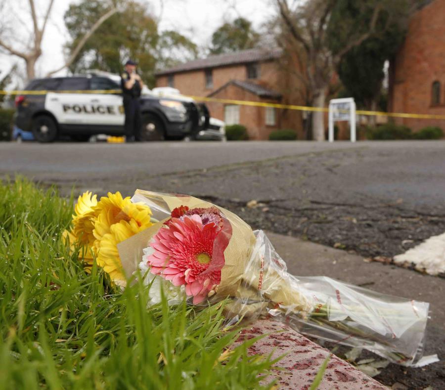 Escena donde fue asesinada Natalie Corona en la noche del jueves. (AP) (semisquare-x3)
