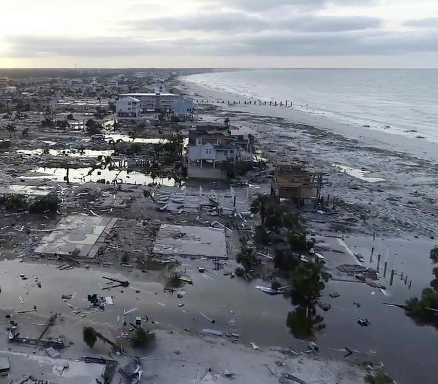 Vista de los daños causados por el huracán Michael en Mexico Beach, Florida. (AP) (semisquare-x3)