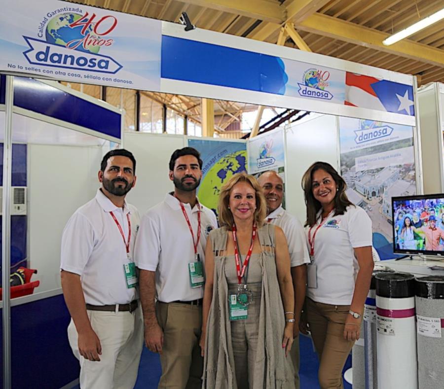 Los productos para sellar techos de la empresa puertorriqueña Danosa Caribbean han sido condecorados en las pasadas tres ediciones de la feria. (semisquare-x3)