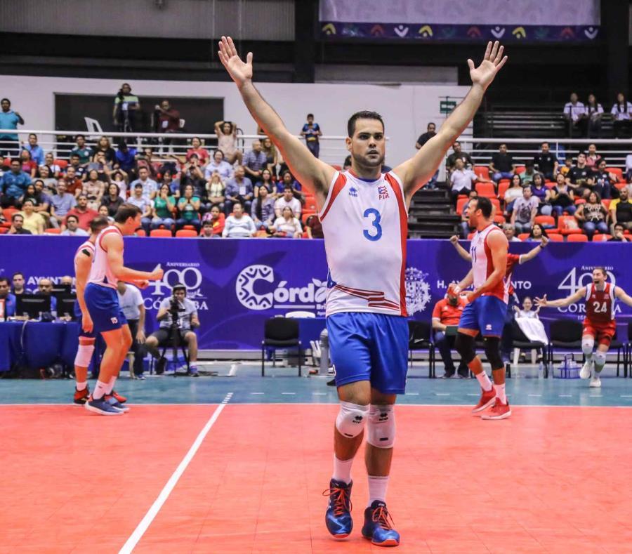 El esquina Pablo Gumán acumuló nueve puntos en la derrota ante Cuba. (Cortesía Confederación Norceca) (semisquare-x3)