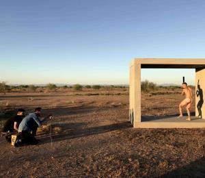 Javier Báez desnudo y los disparos de la vaqueta