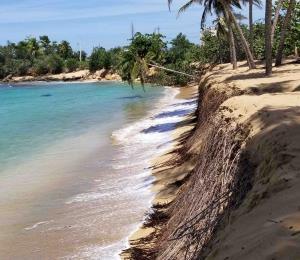 Las playas severamente erosionadas