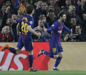 Messi llega a los 100 goles en la Champions y el Barsa avanza a cuartos