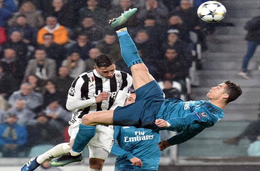 Cristiano Ronaldo marcó una chilena contra la Juventus la temporada pasada. (semisquare-x3)
