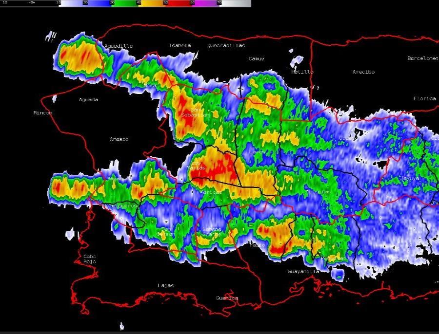 Aguaceros y tronadas continuarán sobre la mitad oeste de Puerto Rico por el resto de la tarde (semisquare-x3)