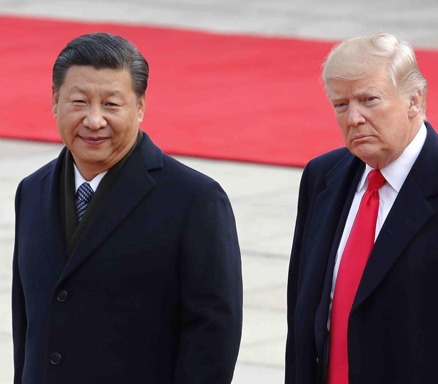 El presidente de China, Xi Jinping, y el presidente de Estados Unidos, Donald Trump (semisquare-x3)