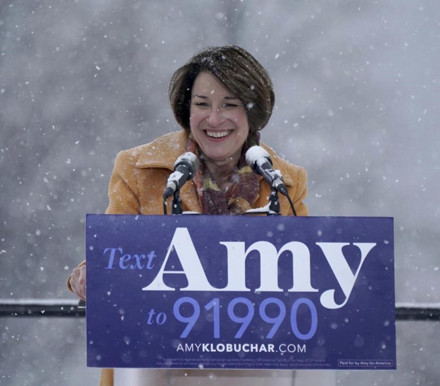 Amy Klobuchar se sumó en febrero al creciente número de demócratas que aspiran a la presidencia. (AP) (semisquare-x3)