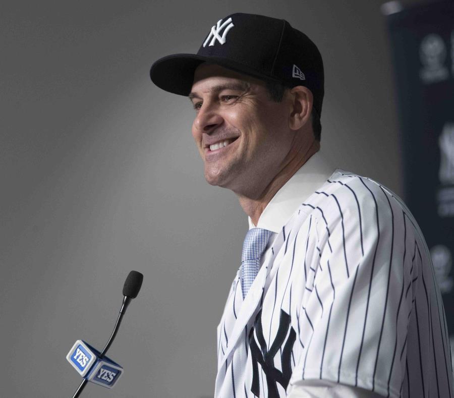 Aaron Boone, nuevo mánager de los Yankees de Nueva York