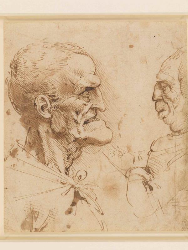 """Uno de los dibujos en la exhibición """"A Life in Drawing""""en el Palacio de Buckingham."""