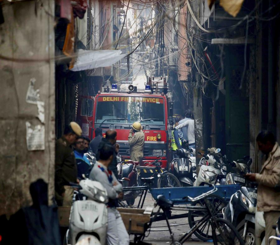 Se incendió una fábrica y murieron 43 operarios