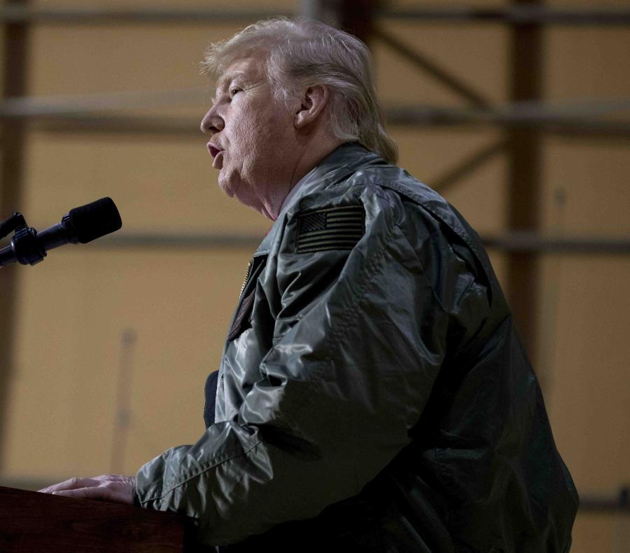 Donald Trump el pasado 26 de diciembre en Irak. (AP) (semisquare-x3)