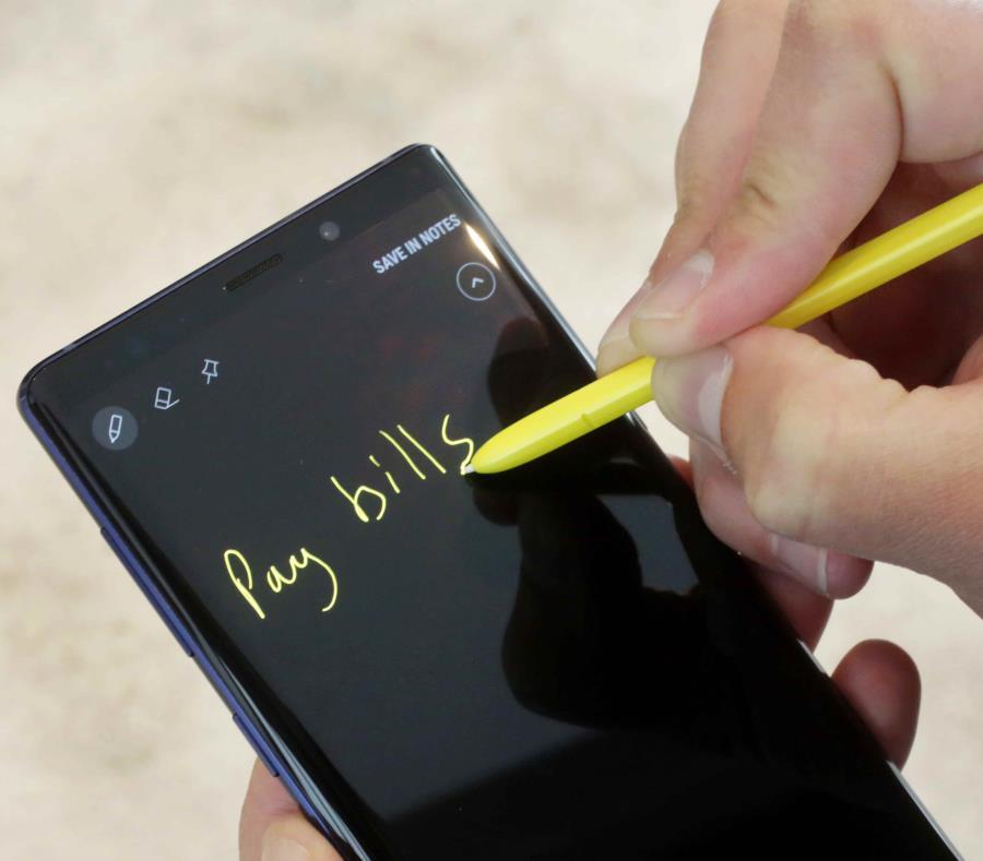 El Samsung Galaxy Note 9 fue presentado a principios de mes en New York. (AP) (semisquare-x3)