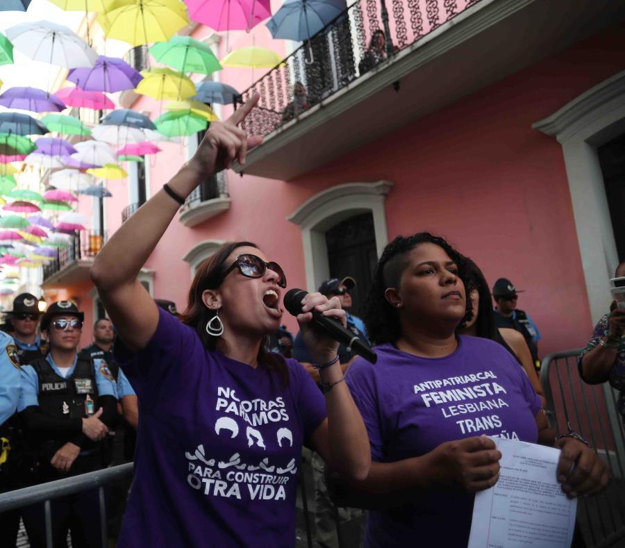 La Colectiva Feminista acampó por tres días en noviembre al frente de La Fortaleza (semisquare-x3)