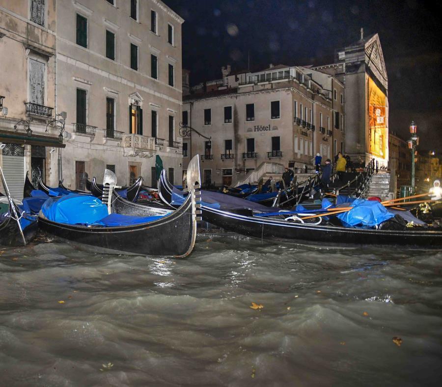 Venecia en alerta por nuevo temporal que registra tres muertos
