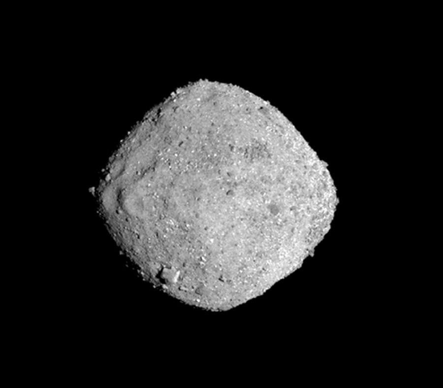 La NASA muestra el asteroide Bennu. (AP) (semisquare-x3)