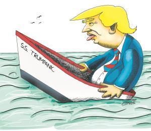 El Trumpanic flota