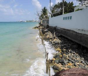 A mitigar la erosión y la invasión del mar