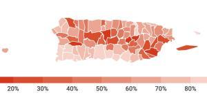 Estos son los porcentajes de clientes que tiene luz en cada municipio