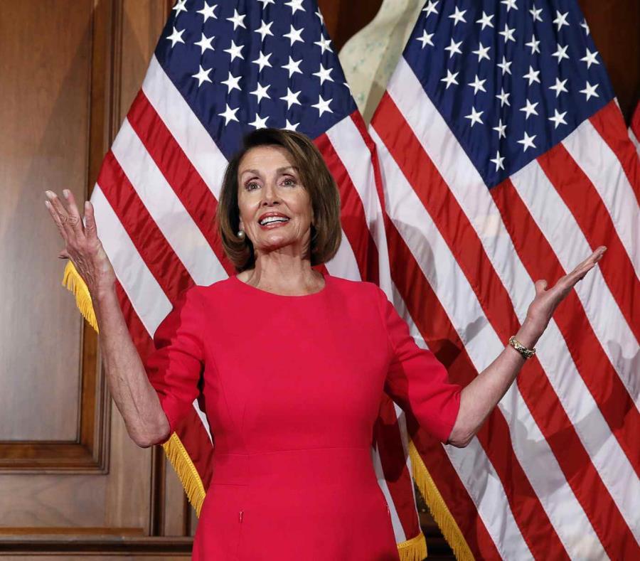Nancy Pelosi, líder democráta en el Congreso (semisquare-x3)