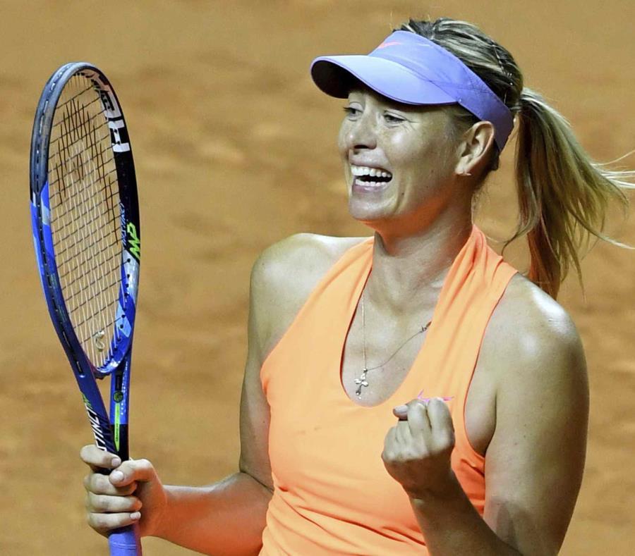 Sharapova celebra su pase a semifinales. (semisquare-x3)