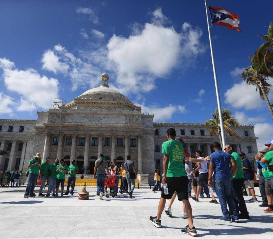 Marcha de los trabajadores del 1 de mayo en el área del Capitolio. (semisquare-x3)