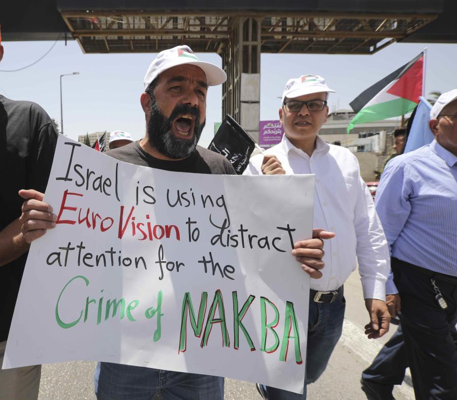 Palestinos conmemoran su
