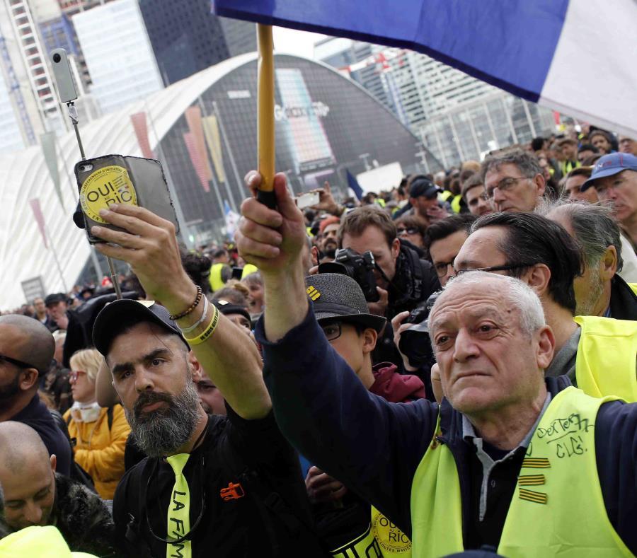 Este es el 21er fin de semana que el movimiento se congrega en varias partes de Francia. (AP/Rafael Yaghobzadeh) (semisquare-x3)