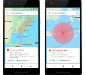 Google Maps ahora alertará en caso de desastres como huracanes y terremotos