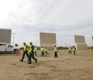El muro va tomando forma en la frontera de México con EE.UU.