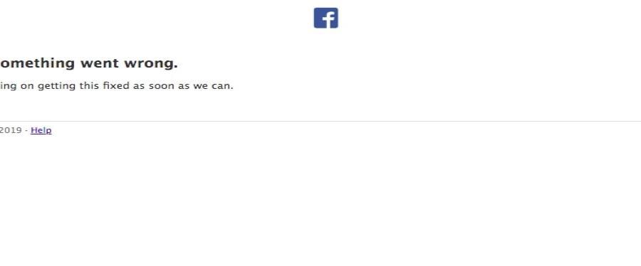 Error que aparece al intentar acceder a la red social. (Fotocaptura)