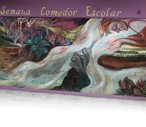 En el limbo el mural  en la escuela Julia de Burgos