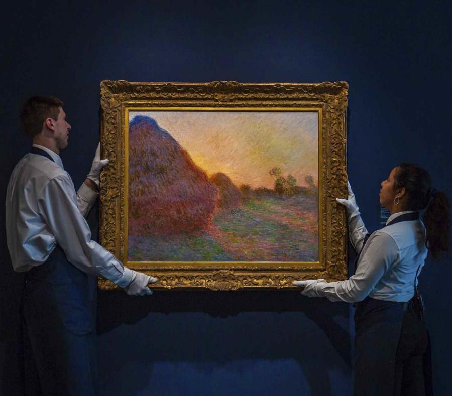 La foto sin fecha distribuida por la subastadora Sotheby's muestra el cuadro de Claude Monet titulado