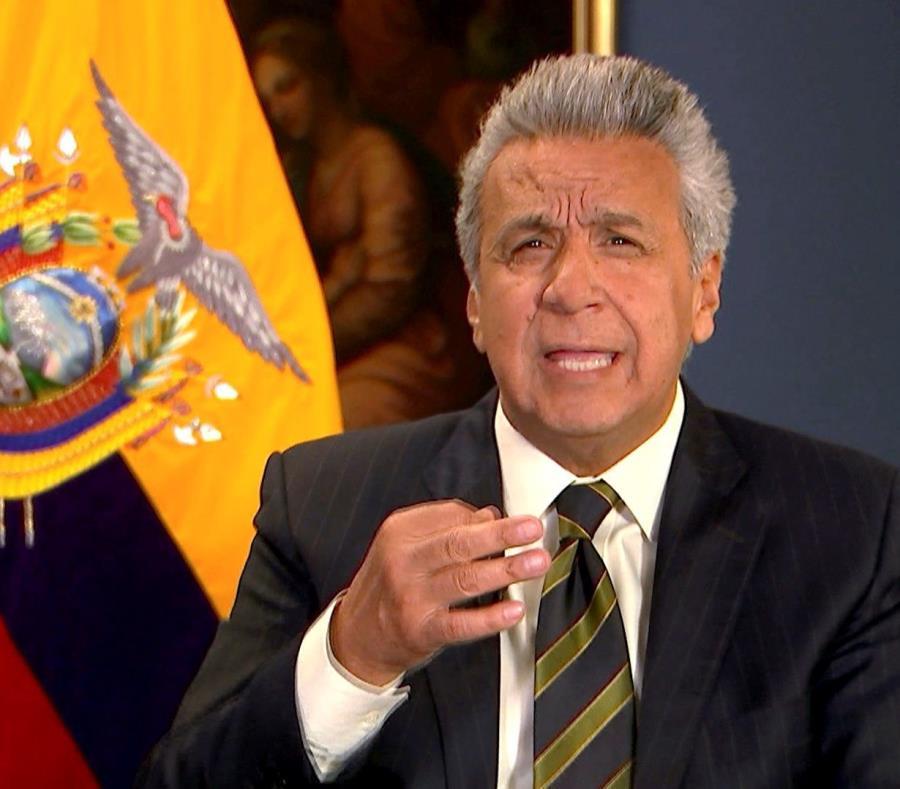 El presidente de Ecuador, Lenín Moreno Garcés,  explica su decisión de poner fin al asilo diplomático concedido en 2012 al fundador de WikiLeaks, Julian Assange (semisquare-x3)