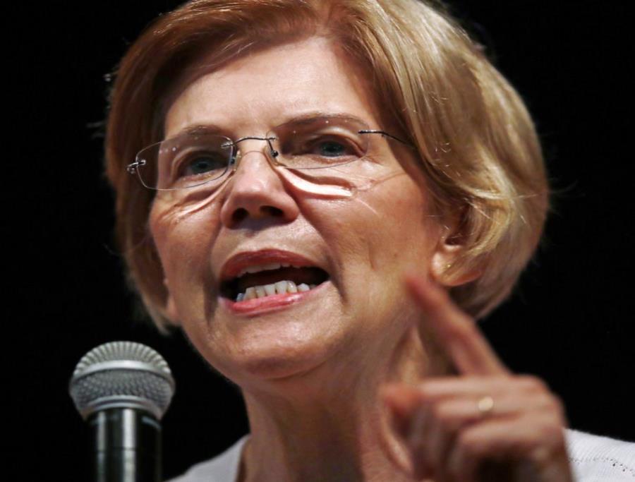 En la foto la senadora demócrata Elizabeth Warren (semisquare-x3)
