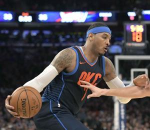 El Thunder pierde en regreso de Carmelo Anthony a Nueva York