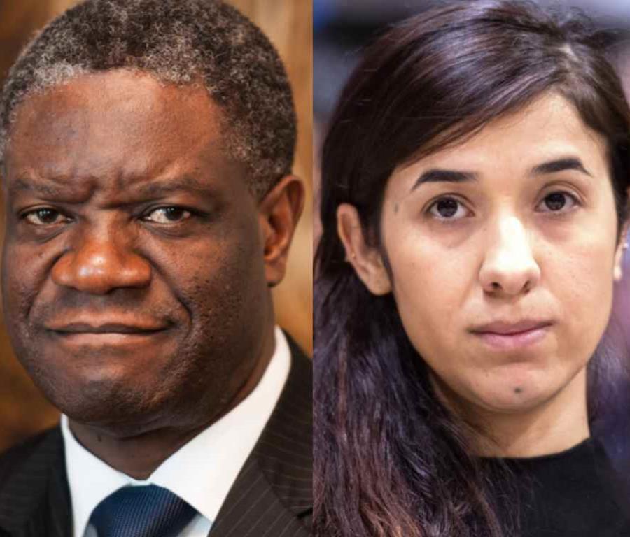 El médico congoleño Denis Mukwege y la activista iraquí de derechos humanos Nadia Murad fueron galardonados con el Nobel de la Paz (semisquare-x3)